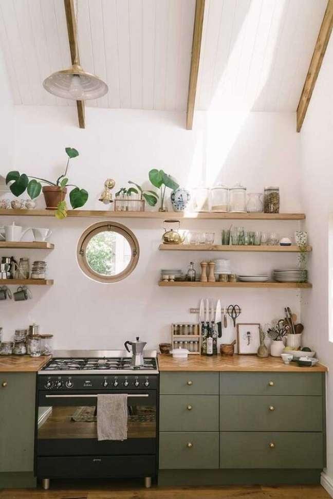 7. As cozinhas de casas simples são confortáveis e acolhedoras. Fonte: We Heart It