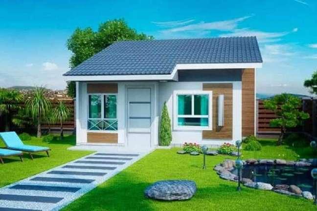 21. Fachada de casas simples e pequena. Fonte: Lolafá