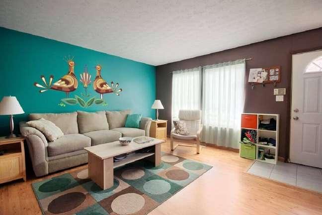 46. Inspiração com cores para casa simples e bonita. Fonte: Architettura e Design a Roma