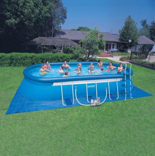 5. O quintal fica muito mais divertido com piscina inflável – Foto Alibaba
