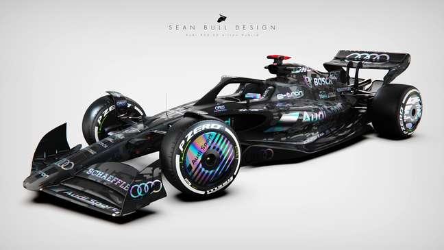 Projeção de um Audi F1