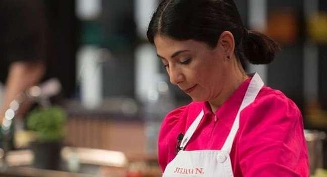 Juliana Nardelli na prova de frango da repescagem