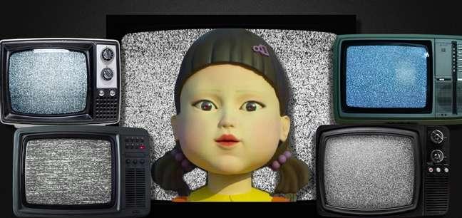 A boneca sinistra de 'Round 6' poderia colocar para assar a batatinha de certos canais de TV