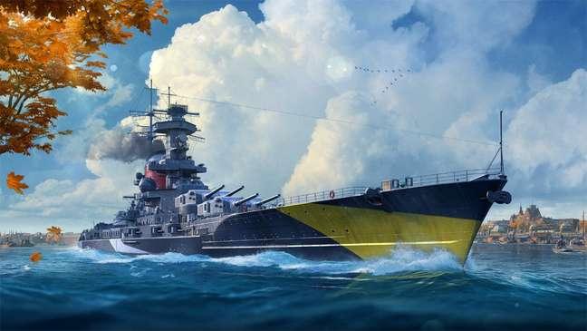 Novos encouraçados alemães em World of Warships