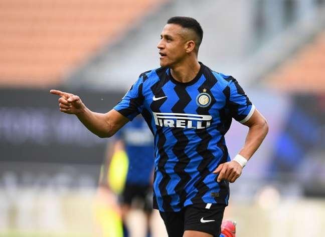 Sanchez non è stato molto utilizzato all'Inter (riproduzione: Twitter Inter Milan)
