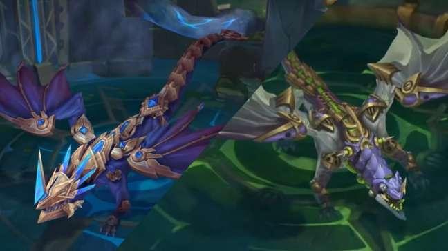 Novos Dragões Hextec e Quimtec de League of Legends