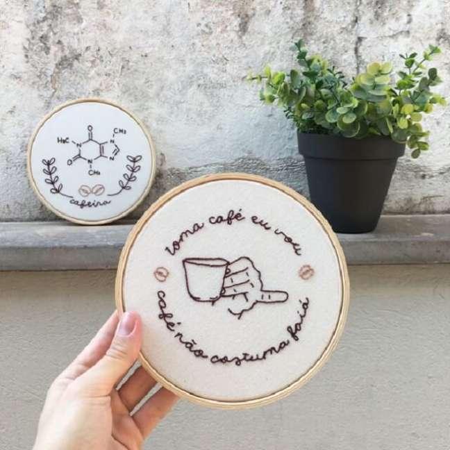 9. Personalize a decoração do cantinho de café. Fonte: Elo7