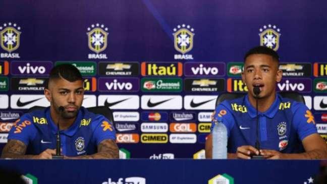 Contra a Venezuela, Gabriel Jesus e Gabigol dividem ataque da seleção e buscam protagonismo