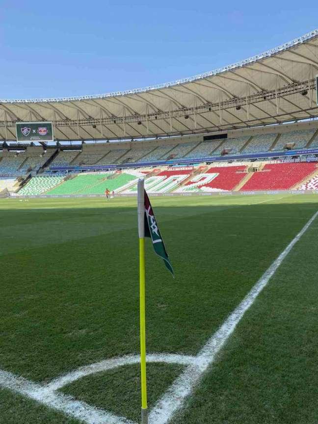 Torcedores que optarem pelo teste de Covid-19 em Laranjeiras irão pagar R$10 a mais (Divulgação/Twitter Fluminense FC)