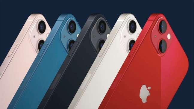 iPhone 13 e iPhone 13 Mini, da Apple, terão 5 opções de cores na data de lançamento