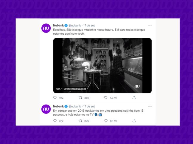 Existem diversas possibilidades de contar a história da marca no Twitter.
