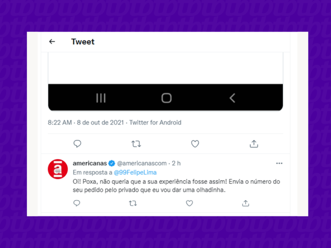 O Twitter é um canal muito usado para dar opiniões, buscar soluções e também apontar de problemas.