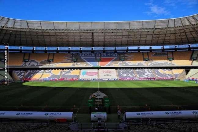 O Castelão receberá torcedores do Fortaleza na partida contra o Flamengo (Foto: Divulgação/Fortaleza E.C.)