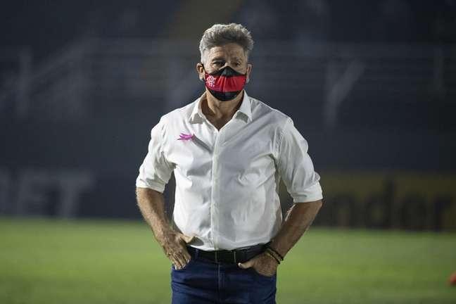O técnico Renato Gaúcho, em Bragança Paulista, durante jogo do Flamengo (Foto: Alexandre Vidal / Flamengo)