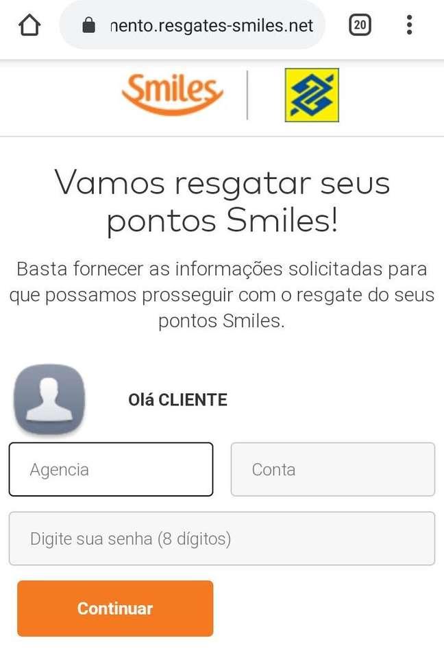Site falso do Banco do Brasil e do Smiles pede dados de cartão de crédito
