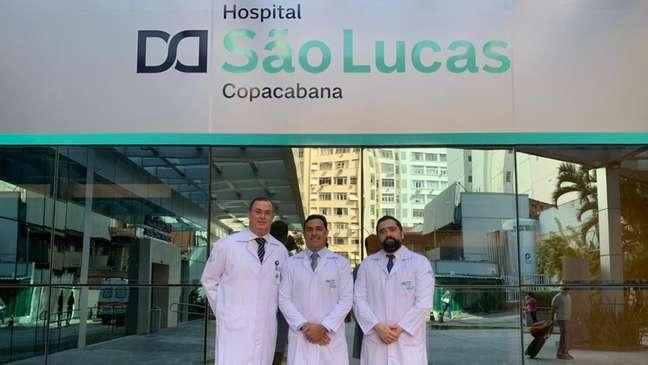 Parte da equipe responsável pelo transplante triplo: procedimento era até então inédito na América Latina