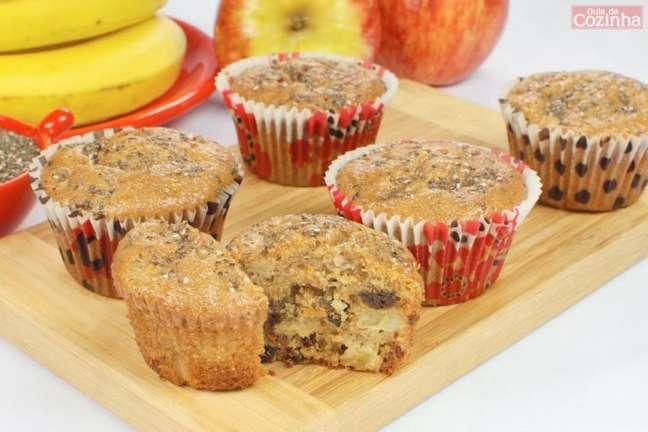 Guia da Cozinha - Muffin funcional de banana e maçã