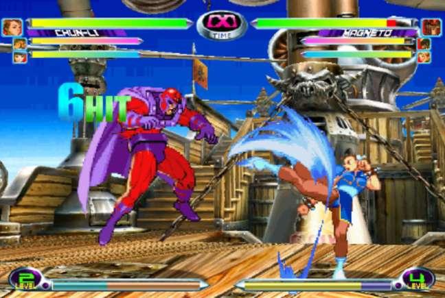 Lendário jogo de luta reúne heróis famosos em um gameplay bem divertido.
