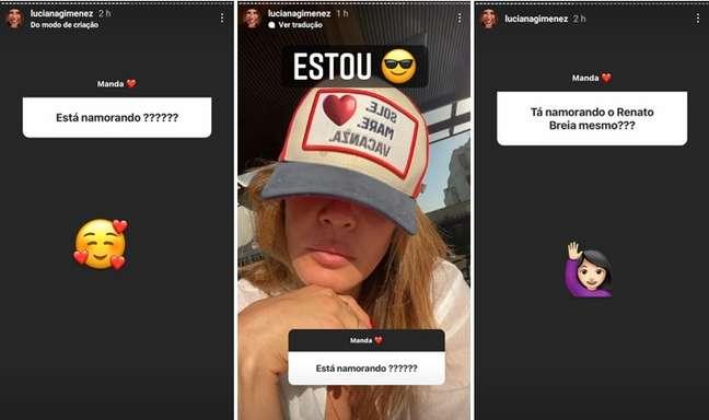 Luciana Gimenez confirmou o namoro ao responder a fãs nos Stories