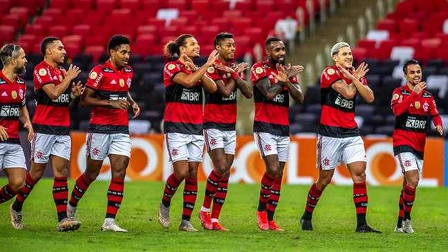 O Flamengo venceu o Fortaleza por 2 a 1 no primeiro turno do Brasileirão (Foto: Marcelo Cortes/Flamengo)