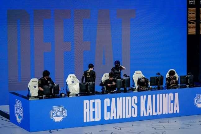 Red Canids foi eliminado do Mundial de LOL após derrota para a PEACE (Foto: Divulgação)