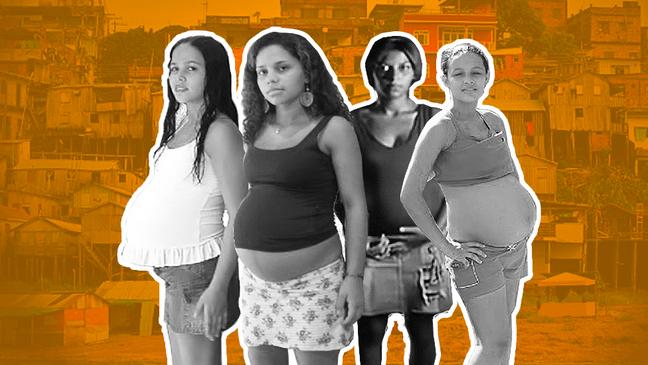 Evelin, Edilene, Joice e Luana: histórias de adolescentes grávidas foram contadas em documentário