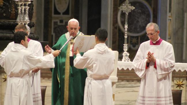 Papa Francisco, na missa de encerramento do último sínodo