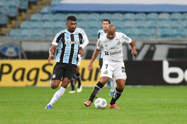 Santos e Grêmio empataram em 2 a 2 no primeiro turno do Brasileirão (FOTO: Ivan Storti/Santos FC)