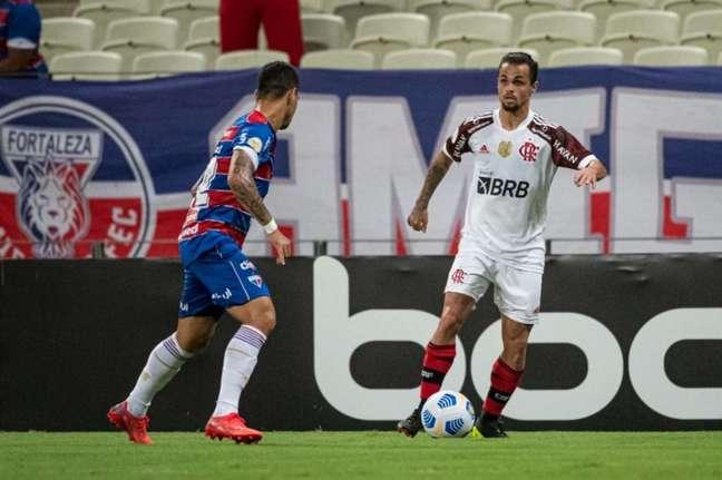 Michael, com dois gols, foi o artilheiro da noite no Castelão (Foto: Alexandre Vidal / Flamengo)