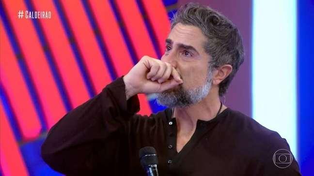 Marcos Mion chora ao ouvir fala deJonathan Azevedo sobre seu filho Romeo