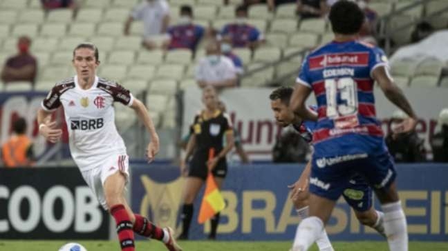 Jogo foi para o intervalo em 0x0 (Foto: Alexandre Vidal / Flamengo)