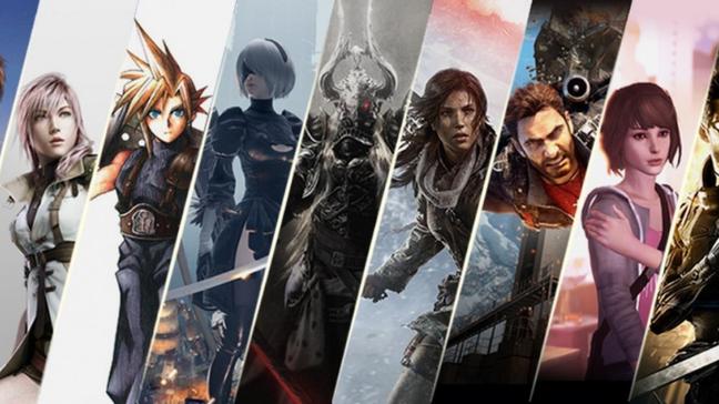 Personagens de diversas franquias da Square Enix