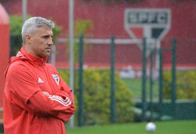 O técnico do São Paulo, Hernán Crespo (Foto: Divulgação / Twitter São Paulo)