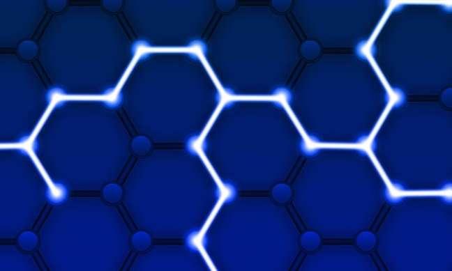 Representação do funcionamento de uma rede blockchain e seus nós