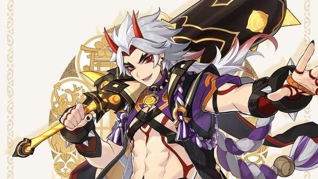Arataki Itto, novo personagem de cinco estrelas de Genshin Impact