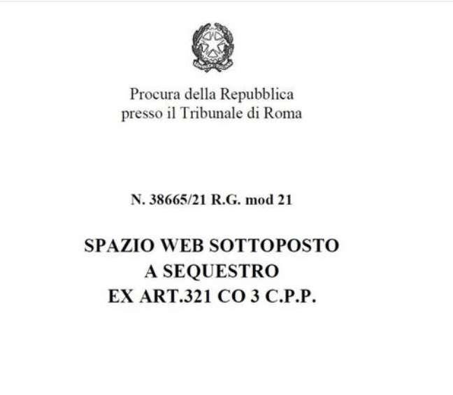 Justiça da Itália bloqueia site de partido neofascista