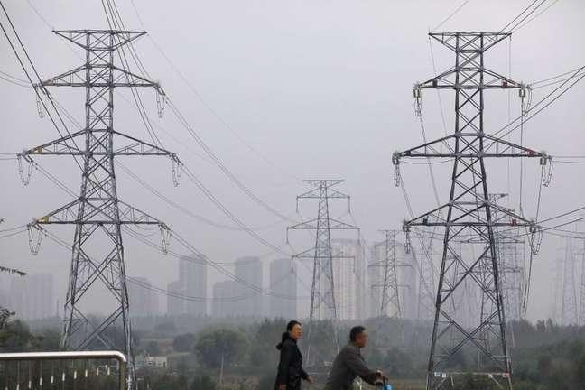 Linhas de transmissão de energia na província em Shenyang, na província de Liaoning, na China 29/09/2021 REUTERS/Tingshu Wang