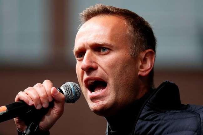 Líder opositor russo Alexei Navalny durante protesto em Moscou 29/09/2019 REUTERS/Shamil Zhumatov