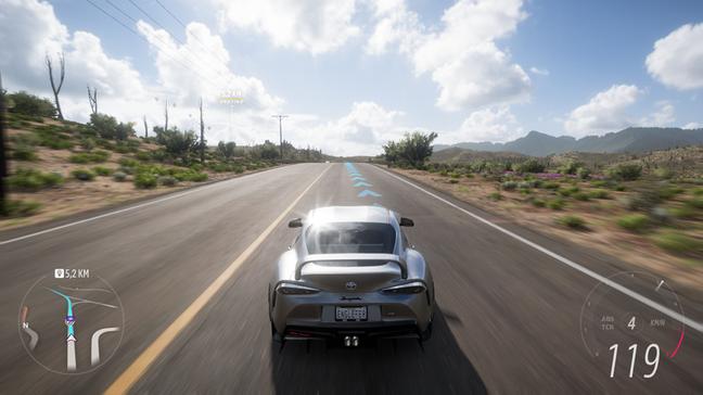 Forza Horizon 5 no Series S e em modo desempenho