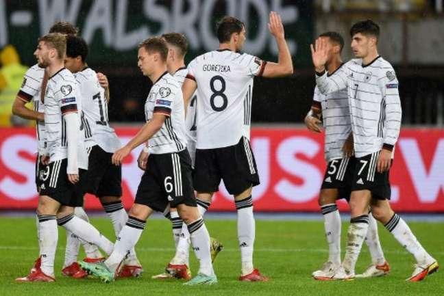 Alemanha venceu a Macedônia do Norte por 4 a 0 (Foto: NIKOLAY DOYCHINOV / AFP)