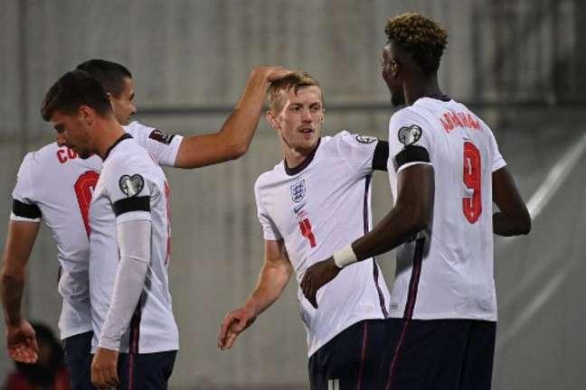 Inglaterra aplicou goleada sobre Andorra e busca nova vitória nas Eliminatórias (Foto: LIONEL BONAVENTURE / AFP)