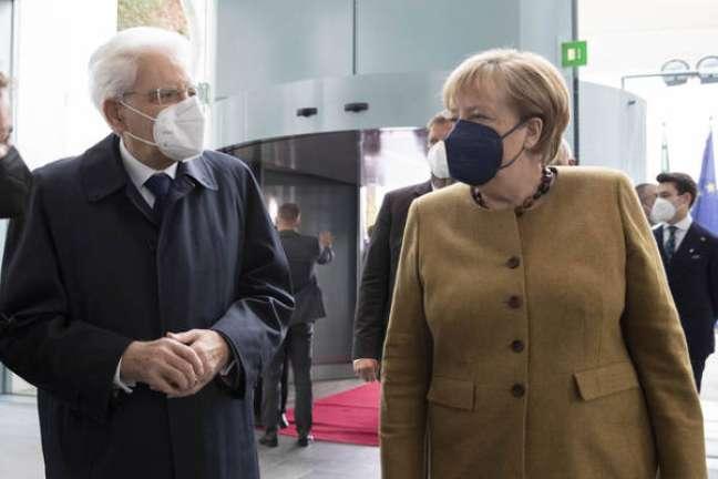 Presidente italiano visitou a chanceler alemã em Berlim