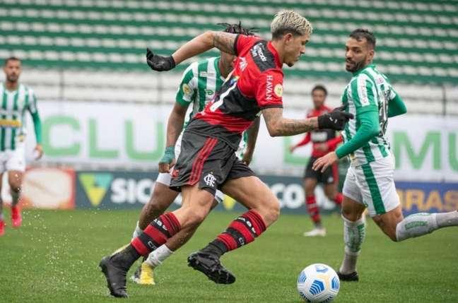 Na ida, o Juventude venceu o Flamengo por 1 a 0, em Caxias do Sul (Foto: Alexandre Vidal / Flamengo)