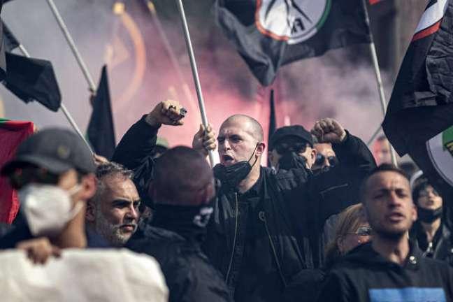 Partido incitou atos violentos durante protesto em Roma