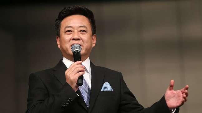 Zhu Jun é uma estrela da TV chinesa
