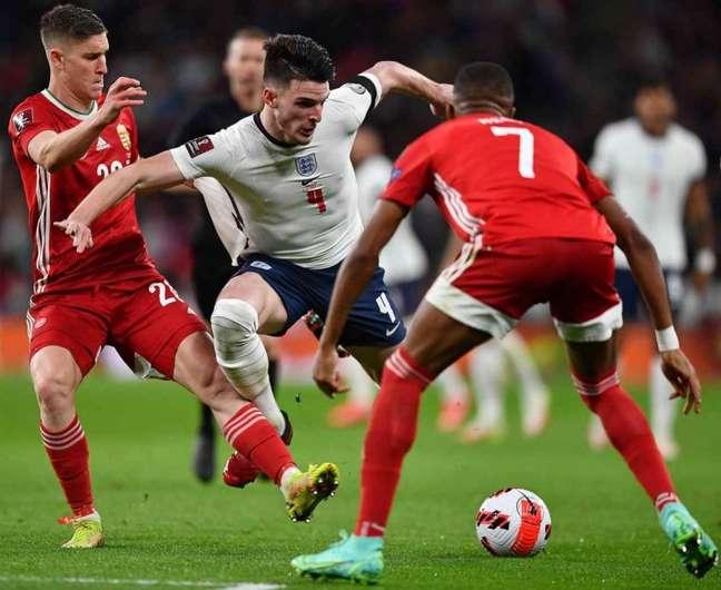 Inglaterra está perto de conseguir vaga na Copa do Mundo de 2022 (Foto: BEN STANSALL / AFP)