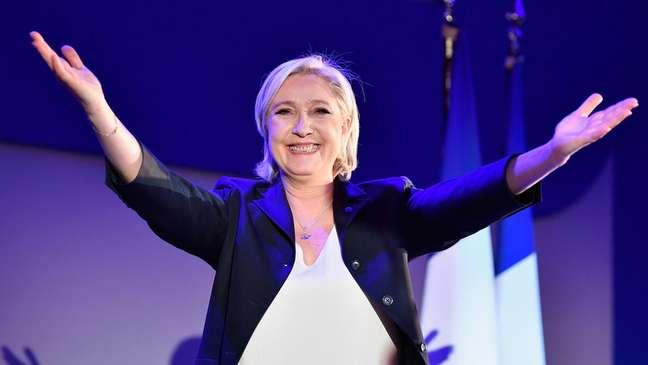 Marine Le Pen chegou ao segundo turno nas últimas eleições presidenciais, em 2017