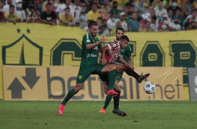 Rojas voltou a jogar pelo São Paulo após quase dois meses (Foto: Rubens Chiri/saopaulofc.net)