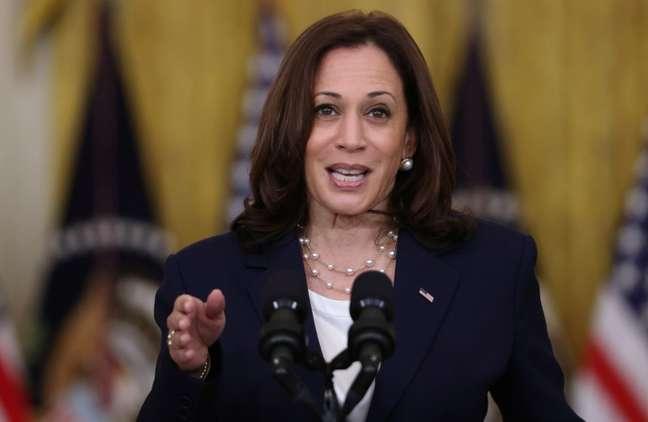 Vice-presidente dos EUA, Kamala Harris. 10/08/2021. REUTERS/Evelyn Hockstein