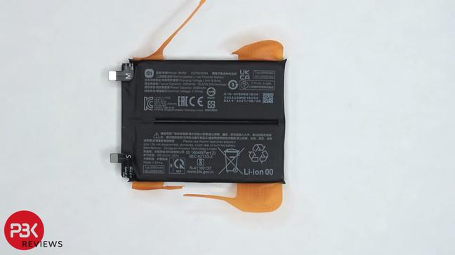 Bateria do 11T Pro é dividida em duas células